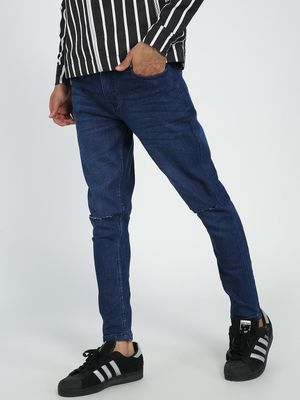 REALM Dark Wash Slash Knee Skinny Jeans