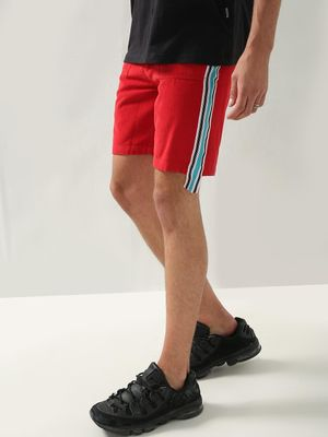REALM Contrast Side Tape Corduroy Shorts
