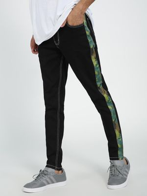 REALM Side Tape Skinny Fit Jeans