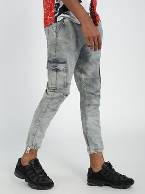 REALM Knee Ripped Jogger Jeans