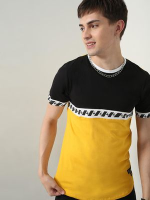 Kultprit Placement Print Crew Neck T-Shirt