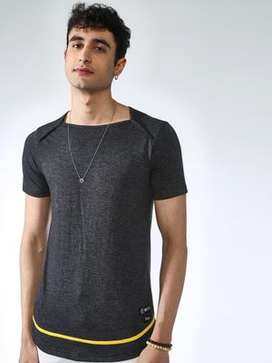 Kultprit Textured Square Neck T-shirt