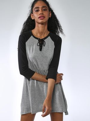 Kultprit Color Block Raglan Sleeves Dress