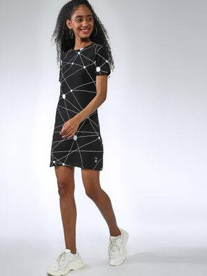 Kultprit All Over Abstract Print Dress