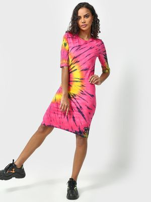 Kultprit Tie & Dye Print Dress