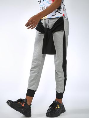 Kultprit Contrast Side Tape Tie-Up Joggers