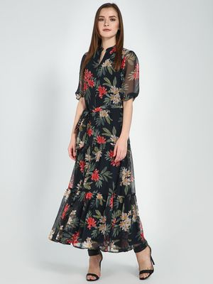 Femella Floral Print Maxi Dress