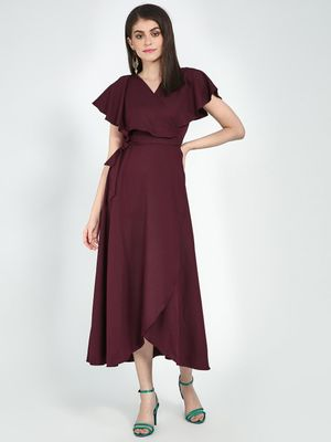 Femella Front Wrap Maxi Dress