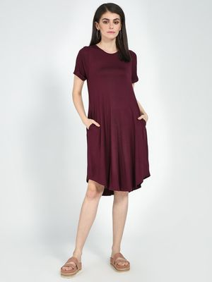 Femella Wine T Shirt Dress