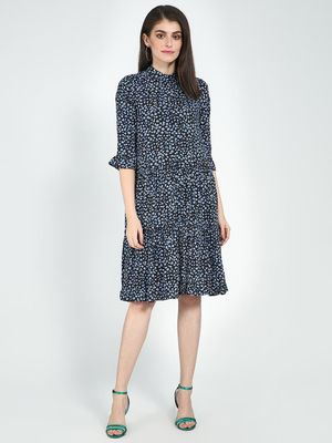 Femella Button Down Tier Midi Dress