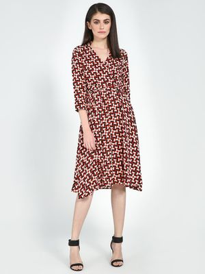 Femella Polka Dot Print Dress