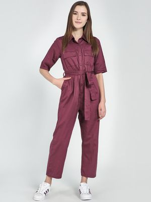 Femella Button Down Utility Jumpsuit