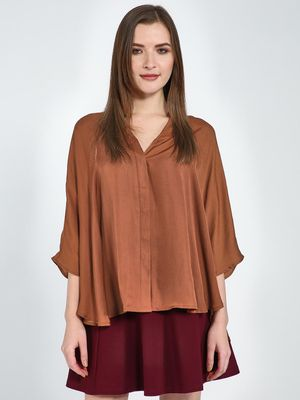Femella Satin Oversized Shirt