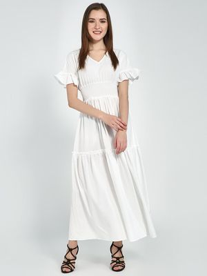 Femella Smocked Tiered Maxi Dress