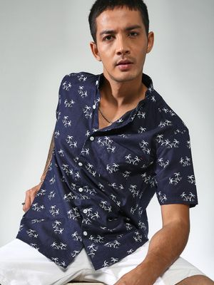AMON All Over Printed Slim Fit Shirt