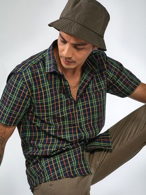 AMON Checkered Slim Fit Shirt