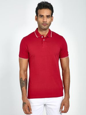 Blue Saint Tipped Collar Polo Shirt