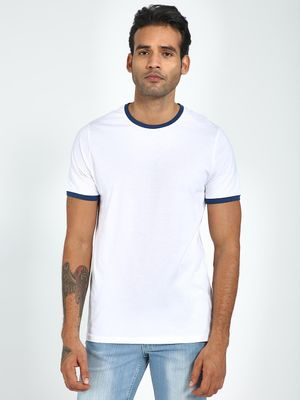 Blue Saint Casual Round Neck T-Shirt