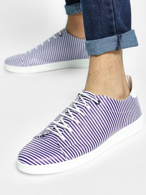 KOOVS Striped Contrast Sole Sneakers