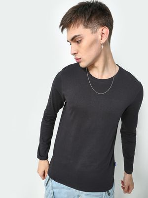 Blue Saint Solid Round Neck T-shirt