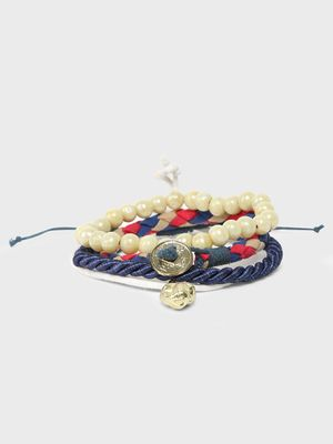 Lazy Panda Beaded Stacked Bracelet