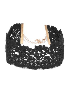 Blueberry Lace Choker Necklace