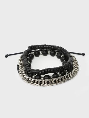 Lazy Panda Beaded Chain Stacked Bracelet