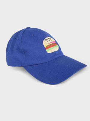 Lazy Panda Burger Embroidered Baseball Cap