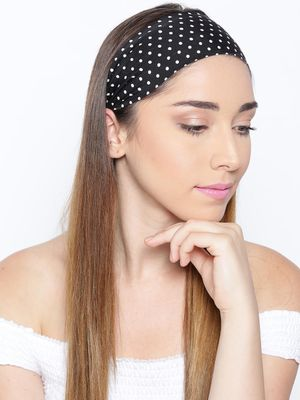 Blueberry Polka Dot Print Headband