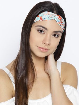 Blueberry Twist Knot Floral Headband