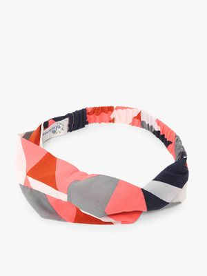Blueberry Colour Block Print Headband