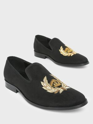 Griffin Loafers with Zardozi Embroidery