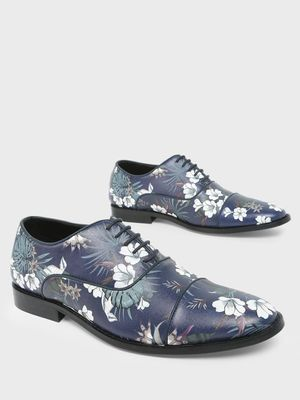 KOOVS Floral Print Oxford Shoes