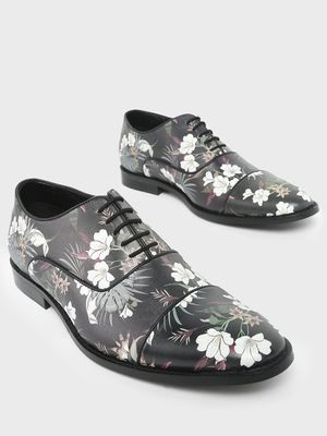 KOOVS Floral Printed Formal Shoes