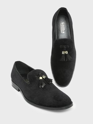 Griffin Tassel Trim Detail Slip on Loafers
