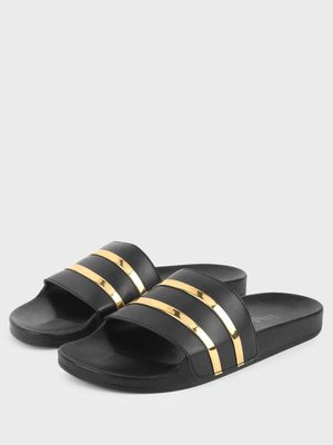 Griffin Metallic Stripe Pool Sliders