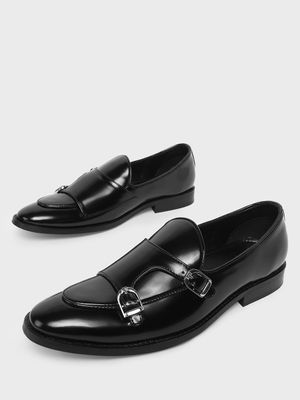 Griffin Double Buckle Strap Slip on Loafers