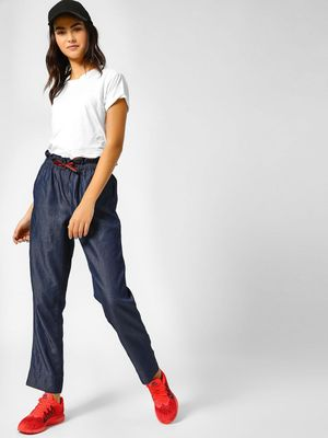 PostFold Paper Bag Trousers With Tie Up