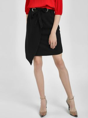 KOOVS Asymmetric Hem Pencil Skirt