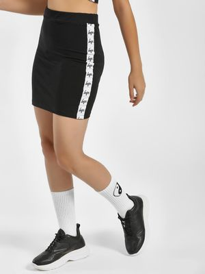 Hype Contrast Side Tape Mini Skirt