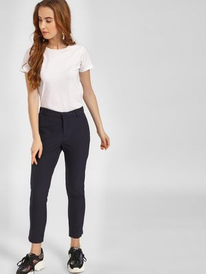 LC Waikiki Basic Elasticated Waist Cropped Trousers