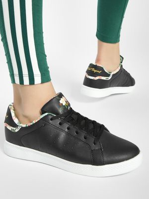 361 Degree Floral Printed Piping Sneakers