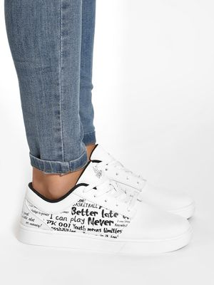 Peak Slogan Print Sneakers