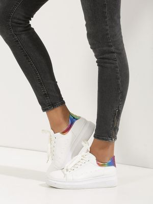 K Denim SOLE STORY Multi Metallic Counter Detail Trainers