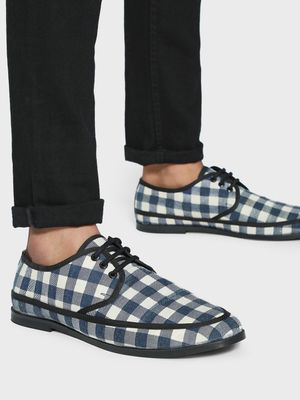 Griffin Checkered Panel Formal Shoes