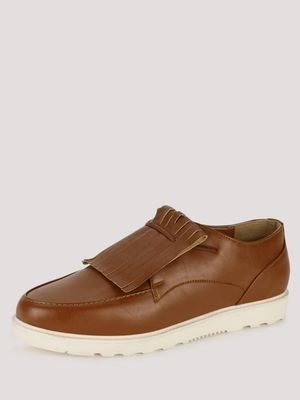 KOOVS Sports Sole Kiltie Detail Loafers