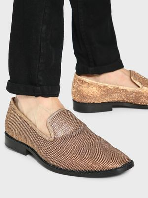 KOOVS All Over Sequin Embellished Loafers