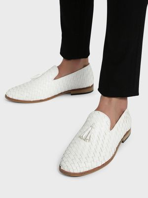 Bolt Of The Good Stuff Handwoven Tassel Loafers