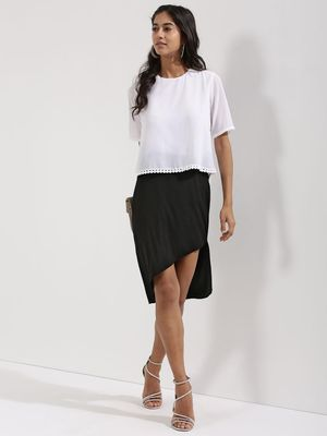 KOOVS Asymmetric High Low Skirt
