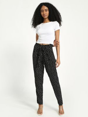 KOOVS Polka Dot Belted Trousers